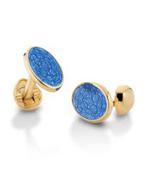 paio di orecchini color blu