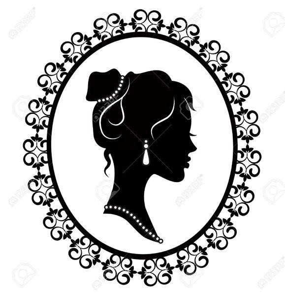 disegno di una donna con orecchini in uno specchio