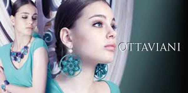 orecchini Ottaviani tondi e azzurri