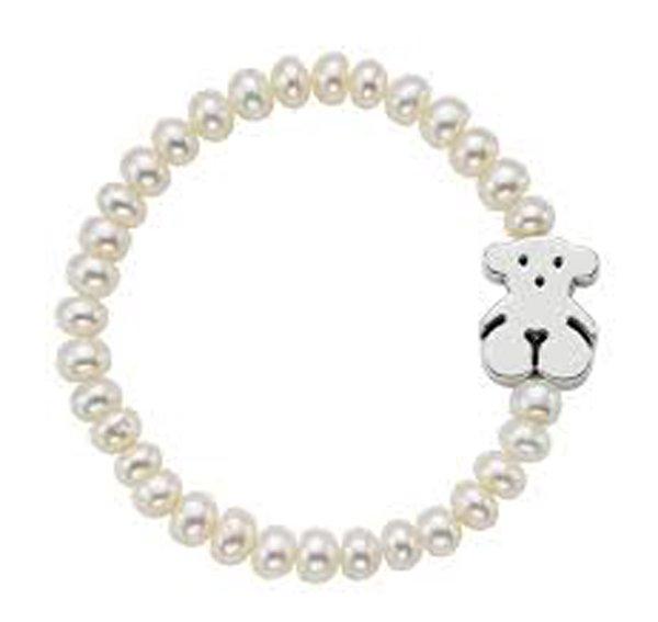 braccialetto sottile con ciondolo a forma di orsacchiotto