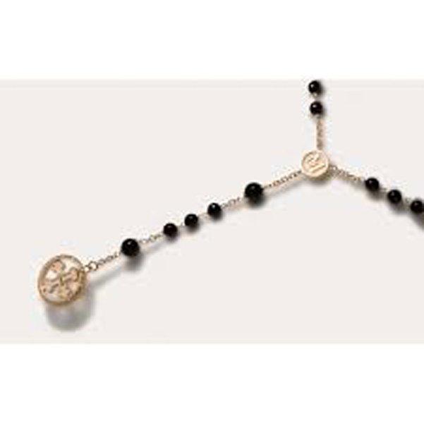 collana con perle nere
