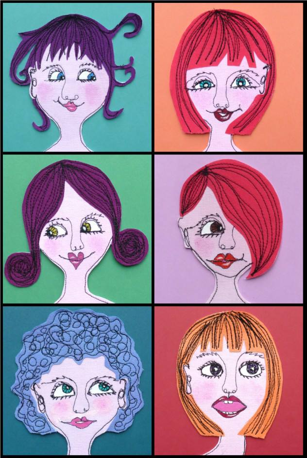 graphic of a lady with various hairstyles