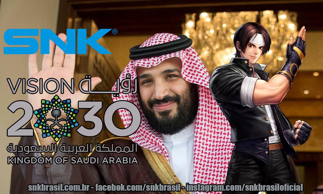 URGENTE: Príncipe da Arábia Saudita compra 33,3% das ações da SNK e  torna-se sócio majoritário.