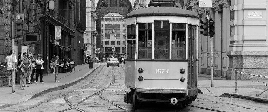 Tram di Milano in passato