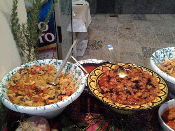Piatto di cous cous di verdure