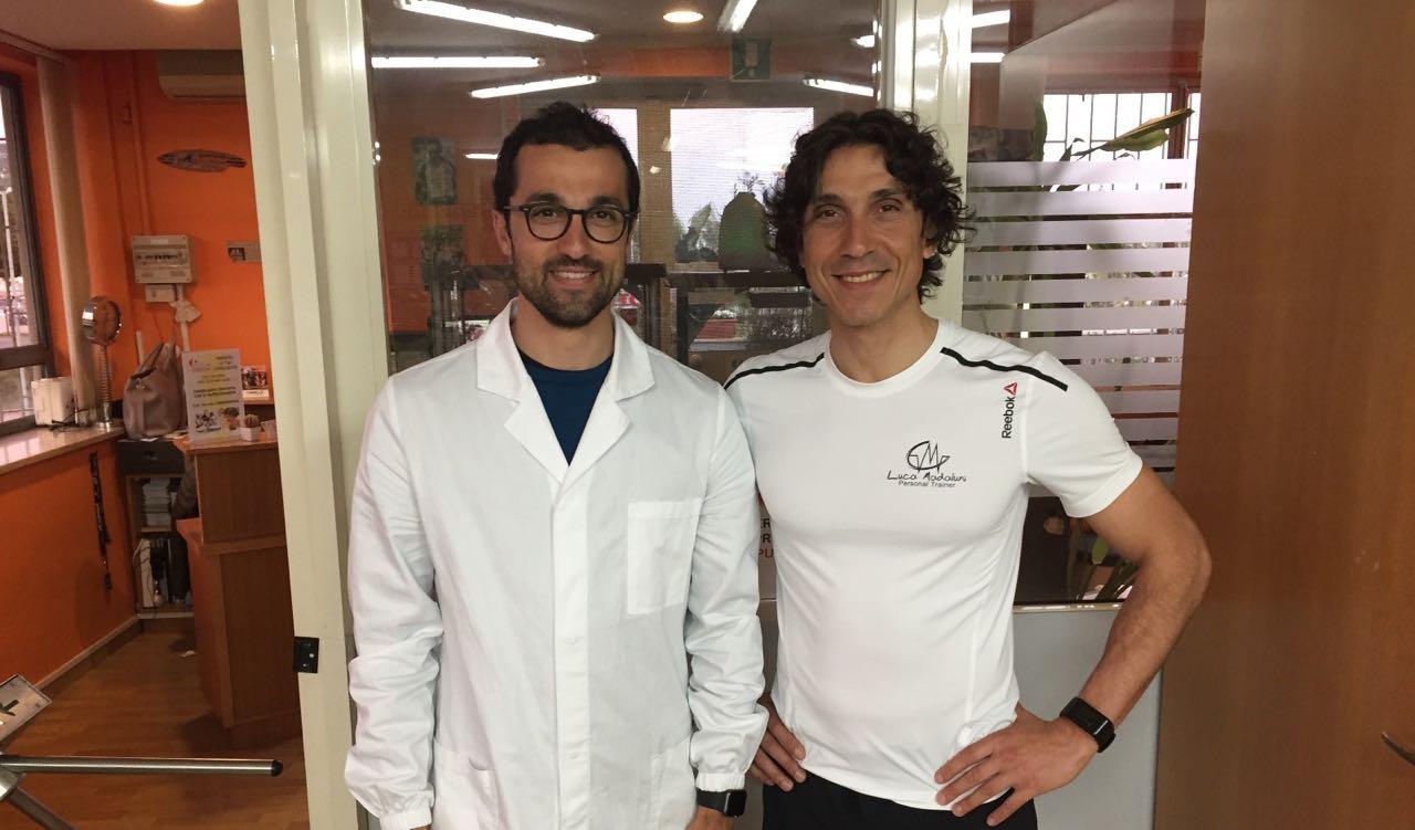 Titolare Luca Madaluni con il nutrizionista biologo Dott Pasquale Caramanica