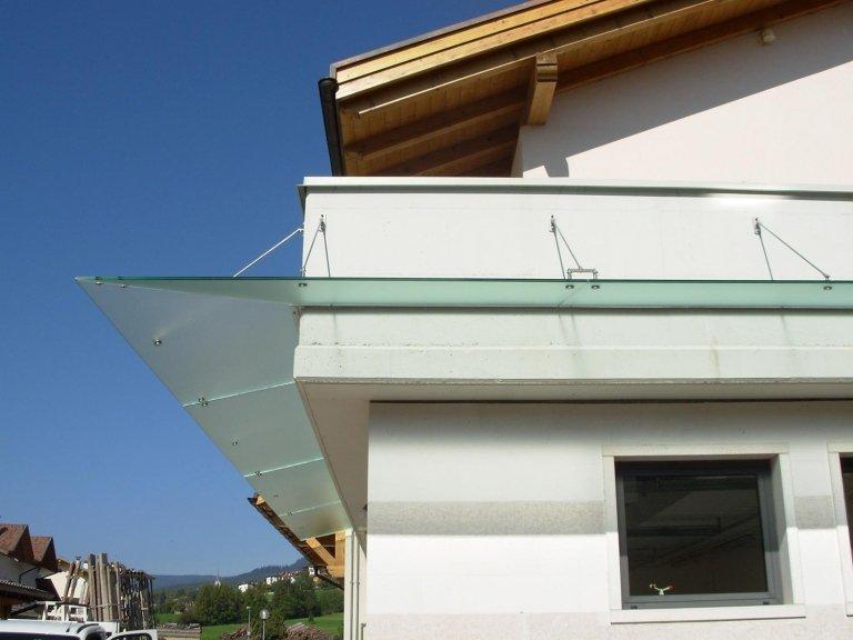 tettoia in vetro