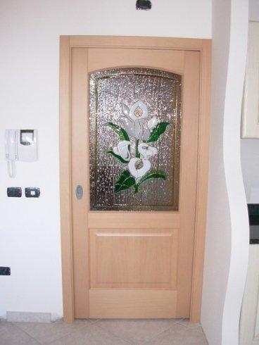 porta interna con vetro fusione