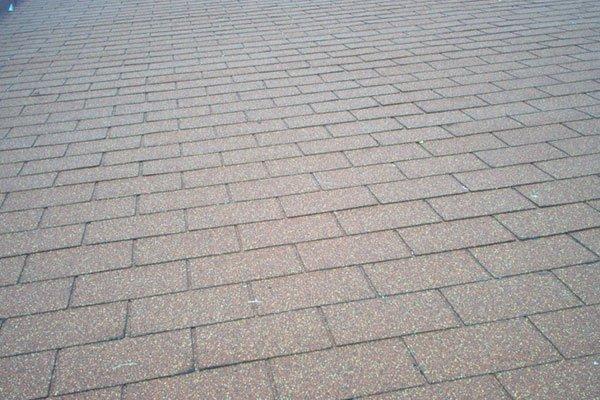 primo piano di tetto impermeabilizzato