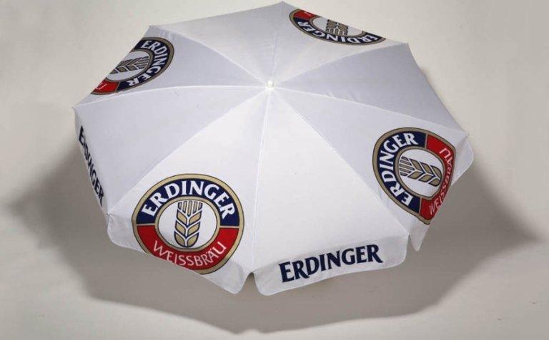 ombrellone erdinger con logo