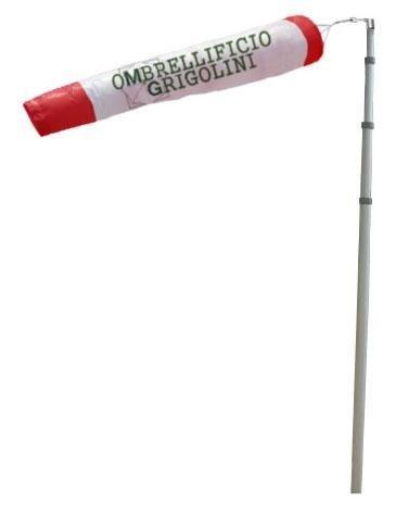 manica vento pubblicitaria con palo estensibile