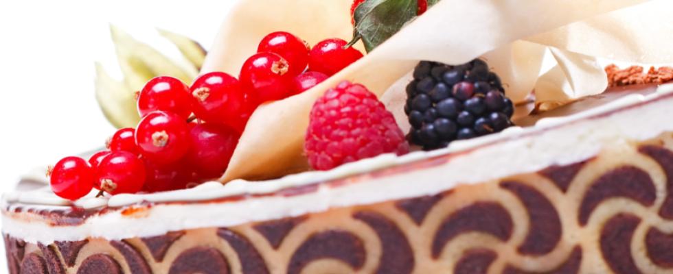 Dettaglio di una torta artigianale