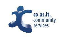 black and white home services coasit logo