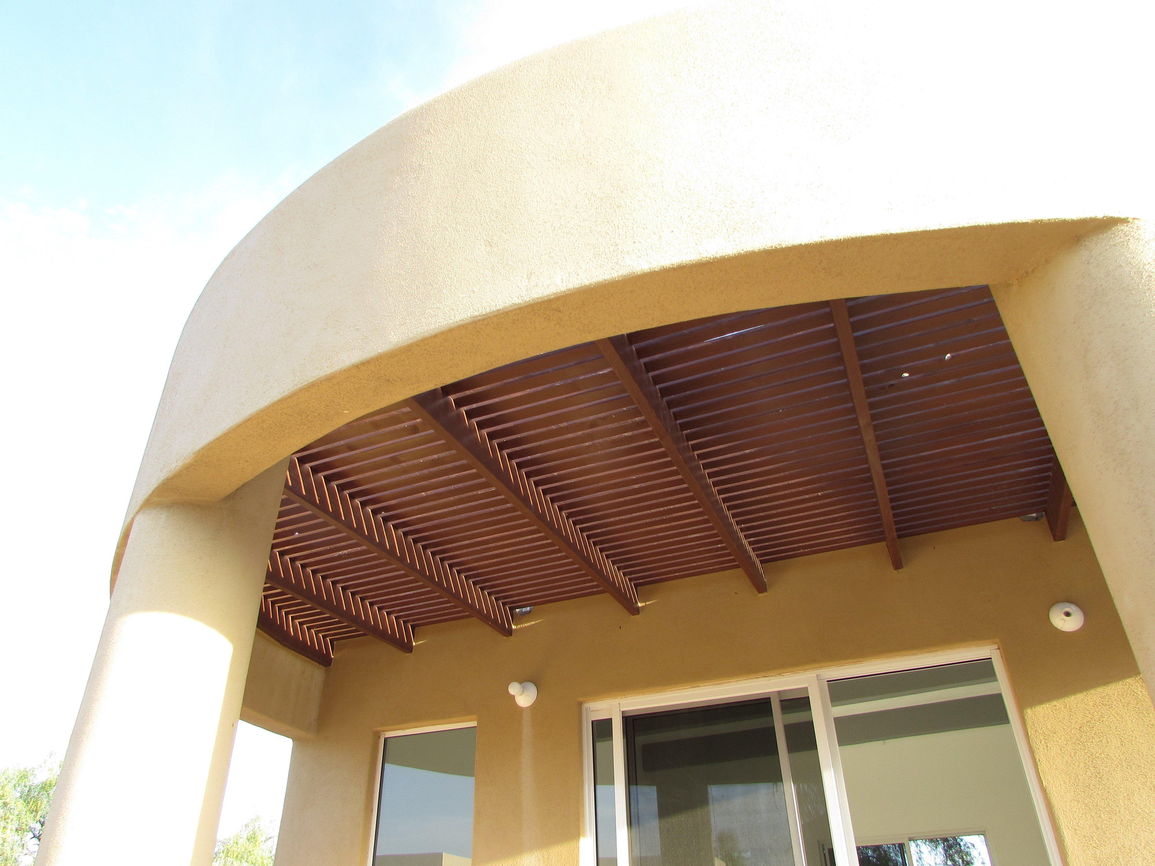 Trellis detail above patio
