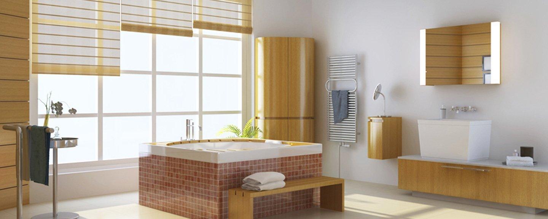 bagno con vasca al centro