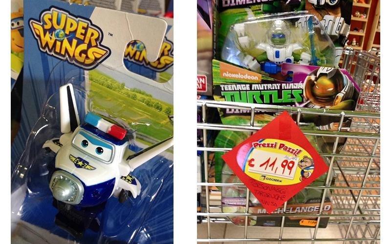 giocattoli di ogni tipo