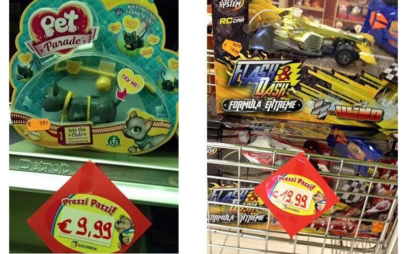 giocattoli a prezzi pazzi