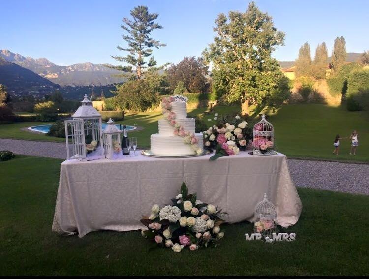 tavolo torta matrimonio