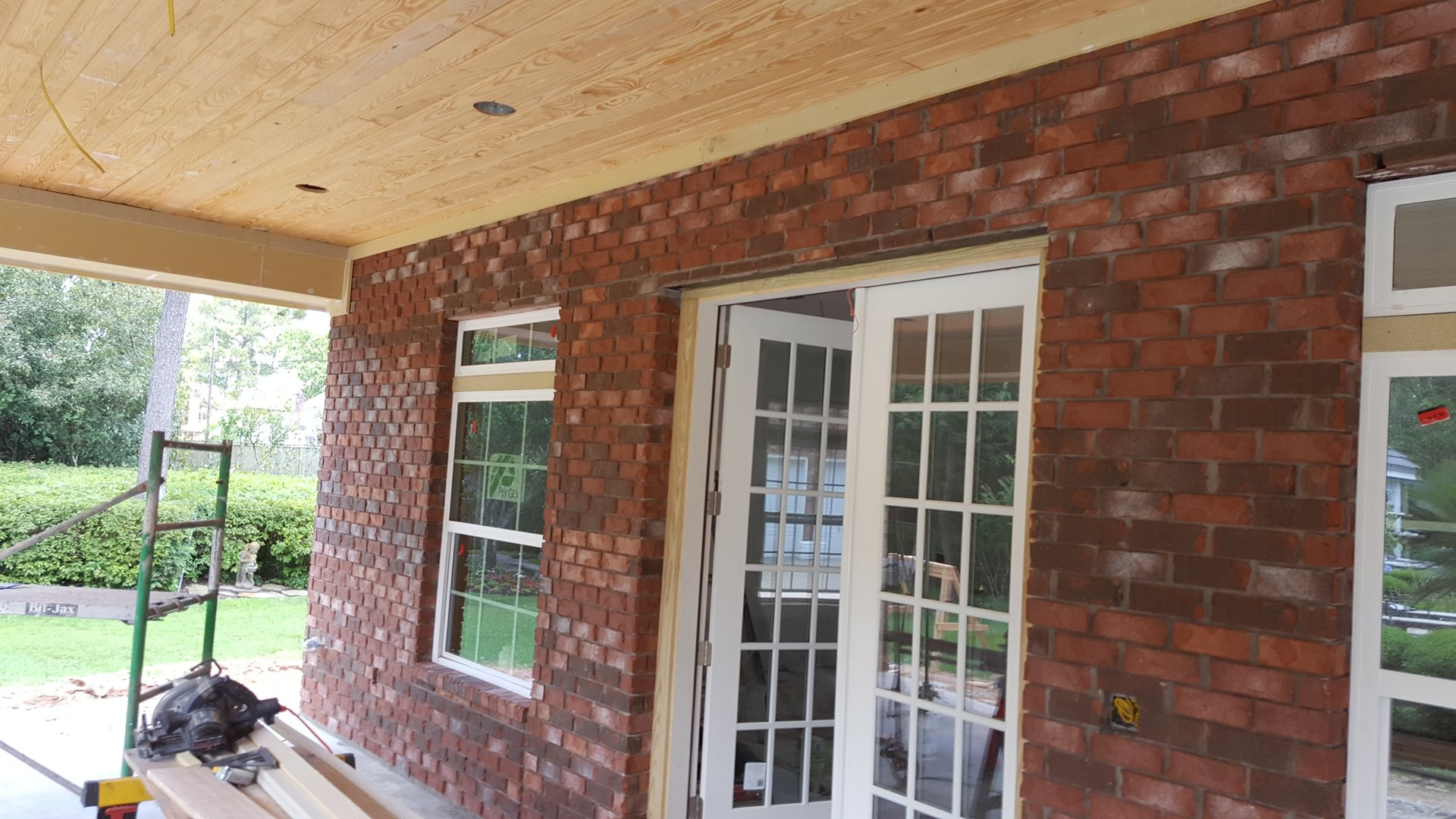 brick wall, new brick wall, strong brick wall construction contractor, brick wall construction in champion forest