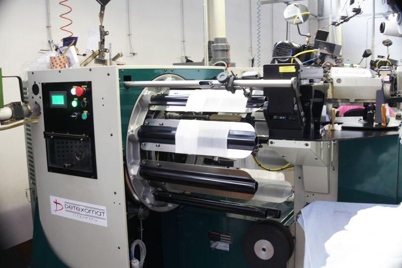 Dettaglio di un macchinario per la tessitura