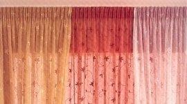 tende colorate, binari per tendaggi, tende decorate