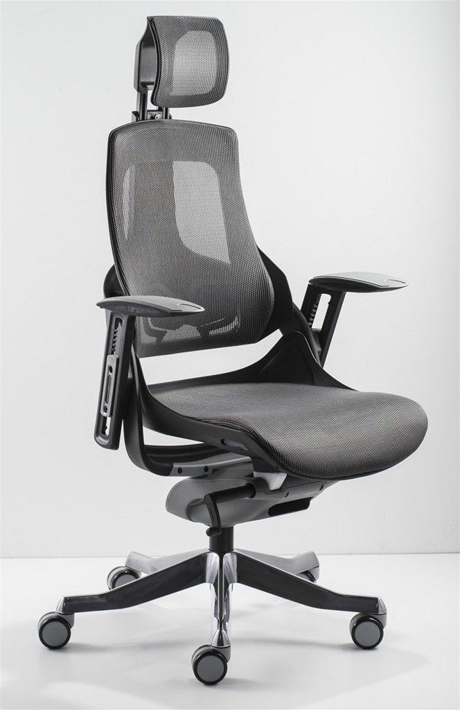 sedia ergonomica per ufficio grigia