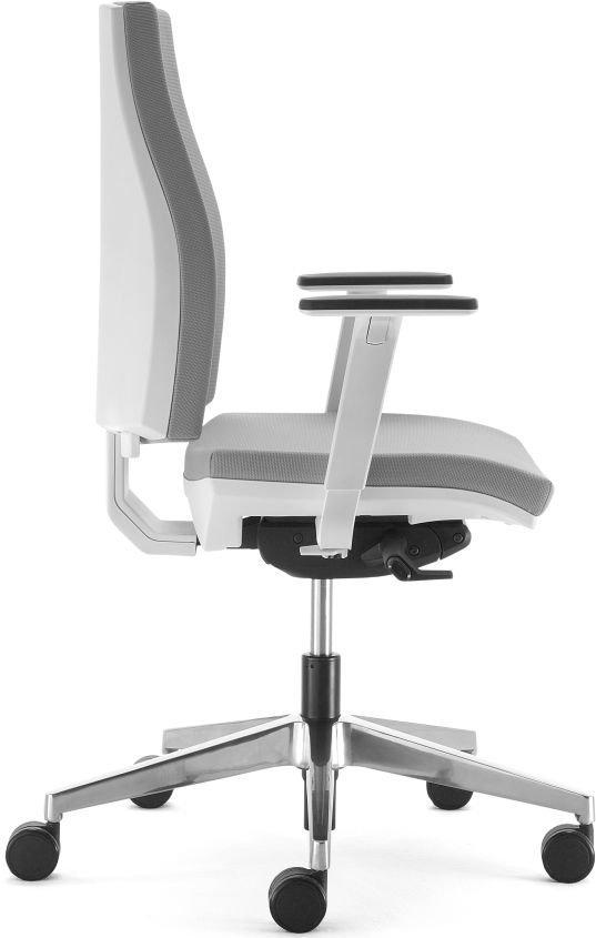 Profilo sedia per ufficio ergonomica bianca