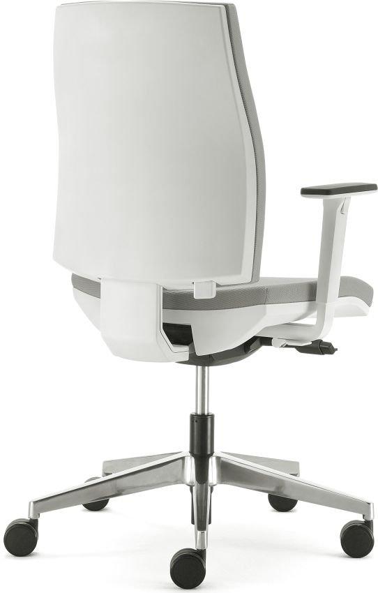 tre quarti sedia per ufficio ergonomica bianca