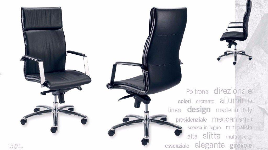 due sedie nere ergonomiche
