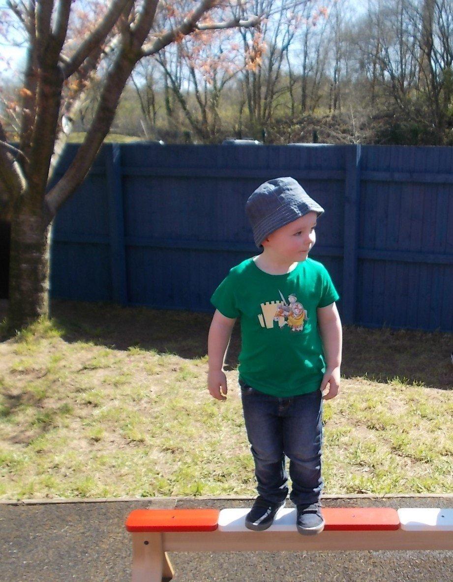 kid standing