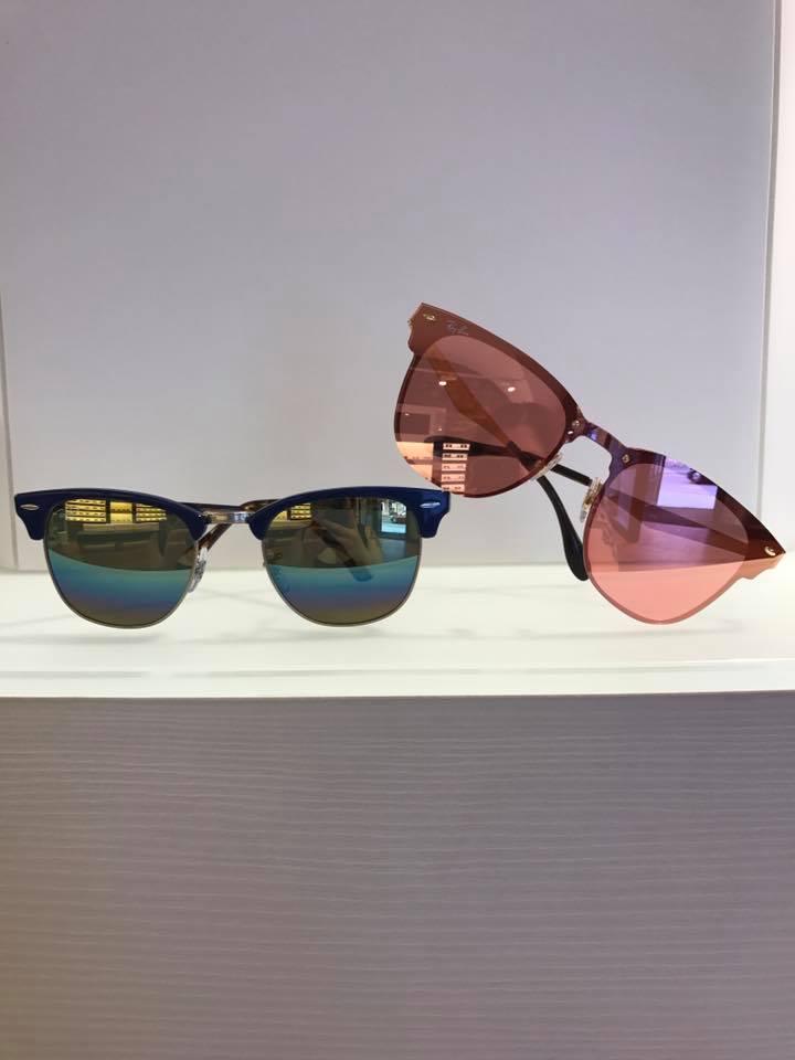 occhiali da sole a specchio colorati