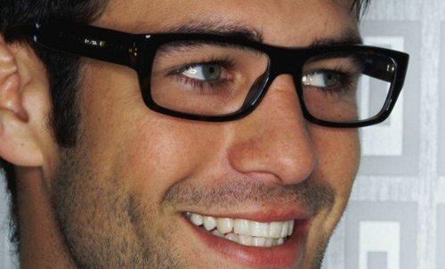 Man sporting new glasses