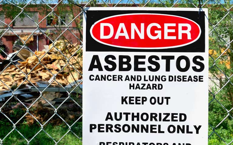 A sign from our asbestos removal team in Darwin