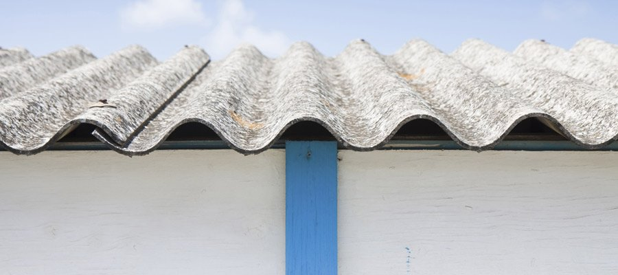 Roofing materials in need of asbestos inspection on the Central Coast