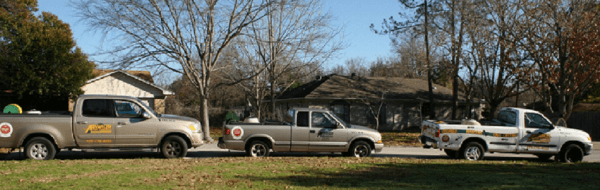Truck on a pest control job site Bryan, TX