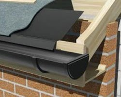 Roof and gutter cross section