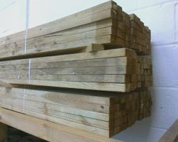 wood for roof installation