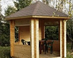 timber framed summer house