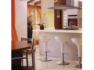 kitchen with marble flooring