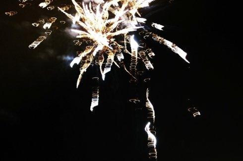 Dei fuochi d'artificio nel cielo