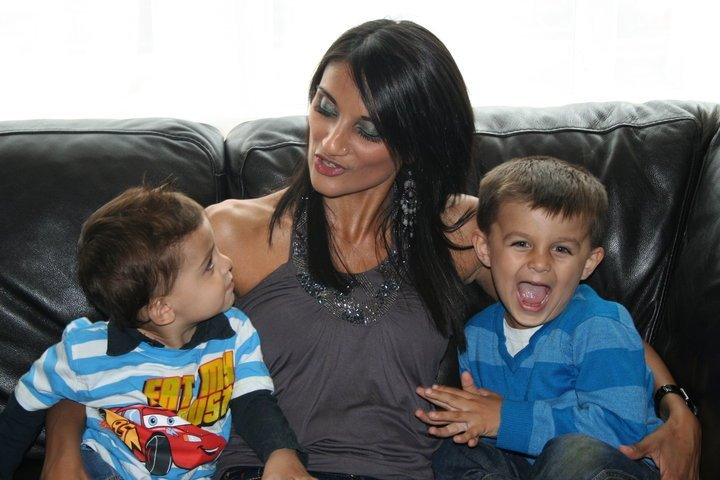Dr Anneela Saleem  with two children after successful cancer treatment