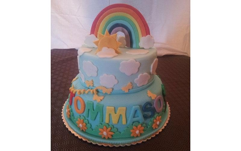 torta compleanno arcobaleno