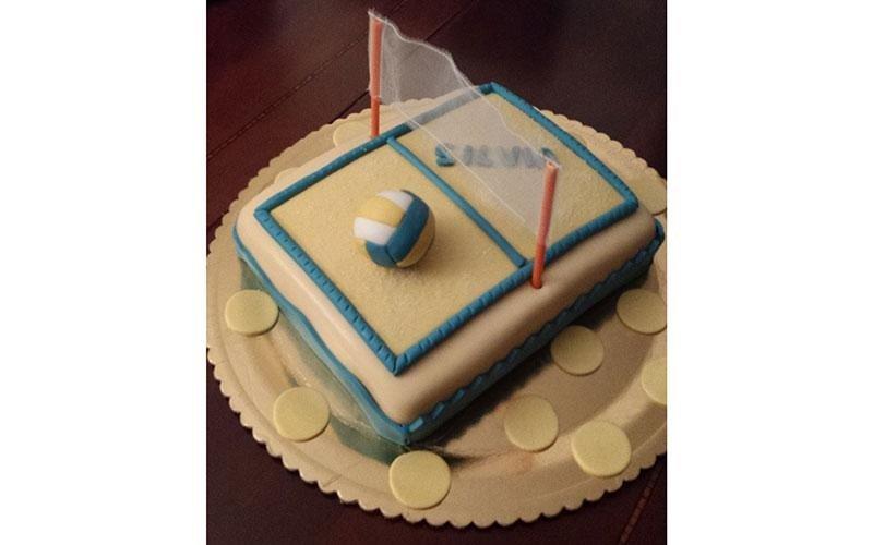 torta compleanno pallavolo