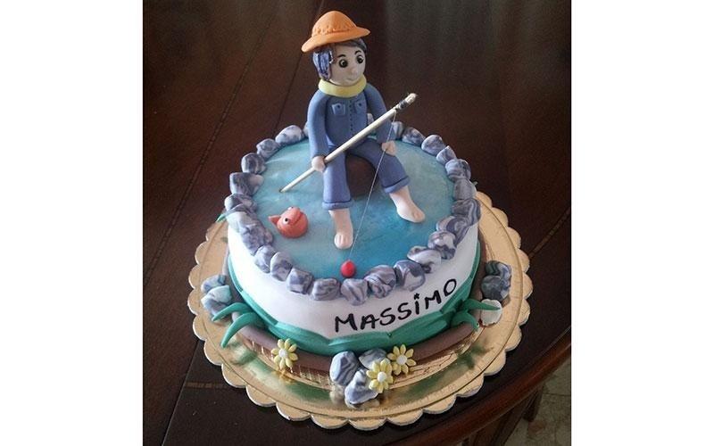 torta compleanno pescatore