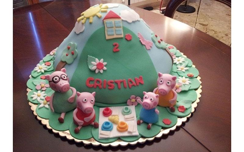 cake design famiglia Peppa Pig