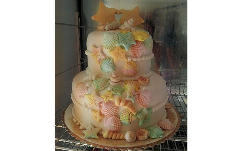 torta design conchiglie