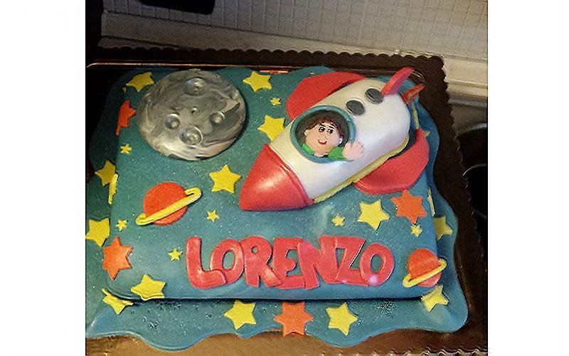 torta razzo astronauta