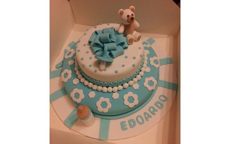 torta personalizzata nascita maschietto