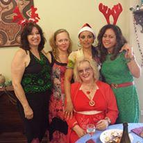 Alina's friends: Janet Alexander, Athenia Pascoe, Charmaine Gilden, Jemima Alonzo Pal