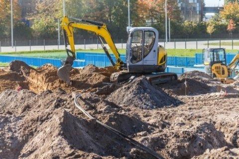 costruzione immobili, scavo fondamenta